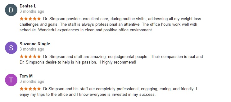 patient reviews for Dr. Terry Simpson Scottsdale